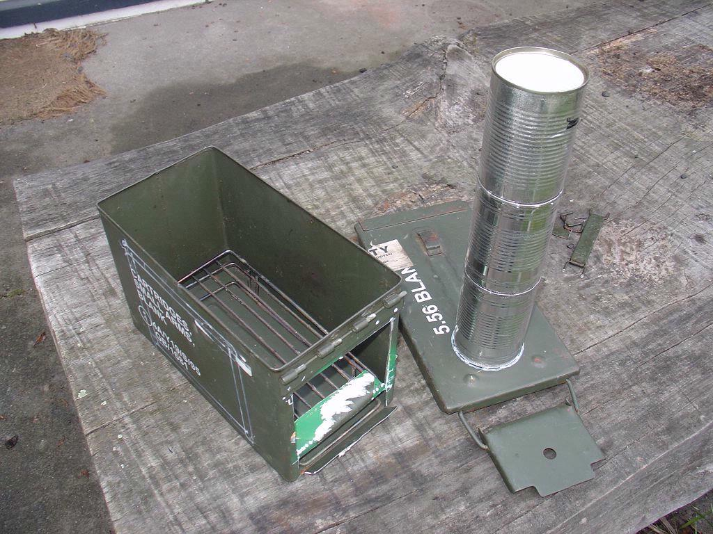 30 cal ammo can wood stove prototype | New Zealand Tramper