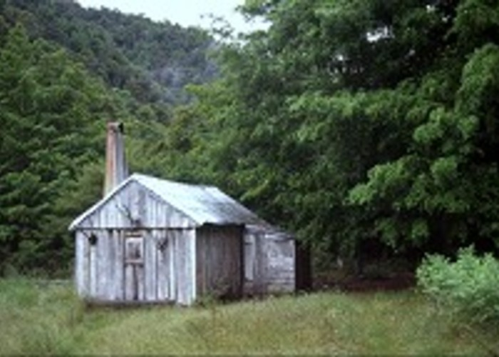 Cecil King's historic slab hut.