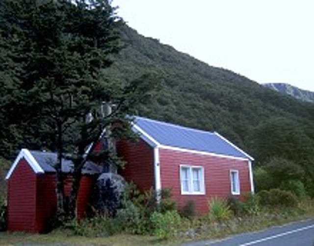 Tunneler's Hut by the main road, Arthur's Pass.