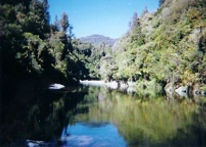 Otaki River from the swingbridge crossing on the Waetewaewae track