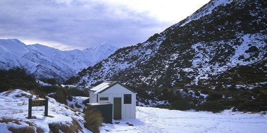 Mount Fyffe Hut, mid-winter