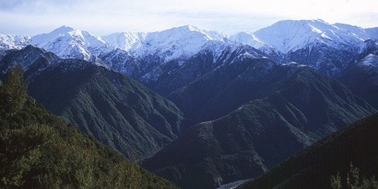 Seaward Kaikoura Range from Mount Fyffe Hut