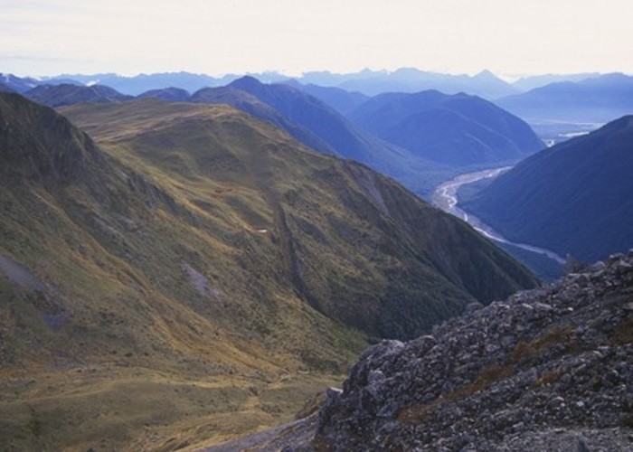 The Maruia Valley from the Lewis Tops