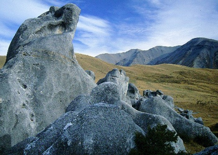 Striking limestone formations of Castle Hill