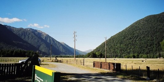 View of Harpers Pass from track end/start