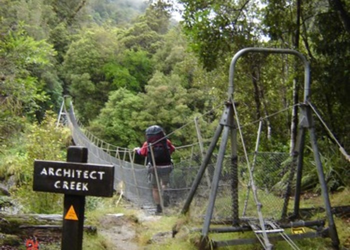 Architect Creek swingbridge