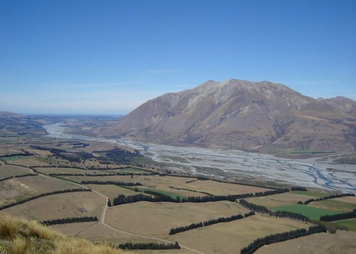 Mt Hutt and the Rakaia river