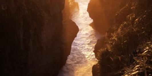 Sunset, Pancake Rocks