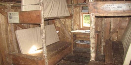 Inside Cecil Kings Hut