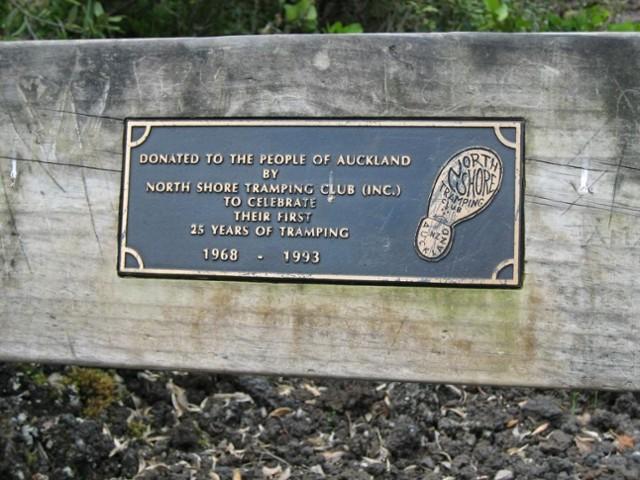 NSTC plaque Rangitoto Island