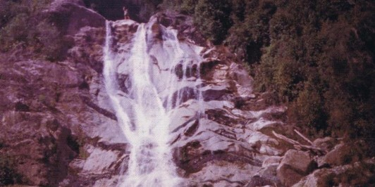 On top of Carew Falls mid 1970's