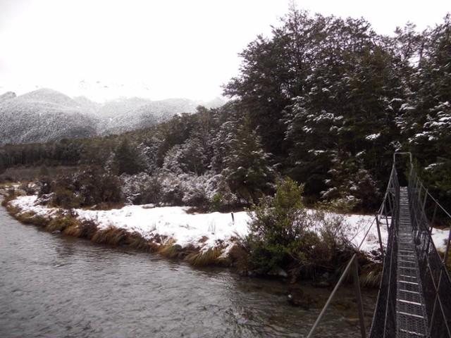Nina River First Swing Bridge ~ Snowy