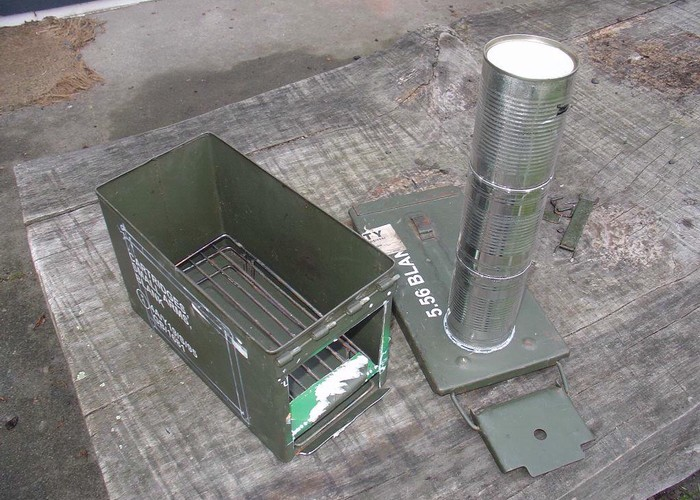 30 cal ammo can wood stove prototype