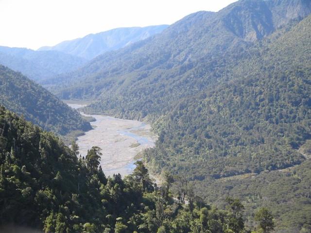 Orongorongo River valley looking north