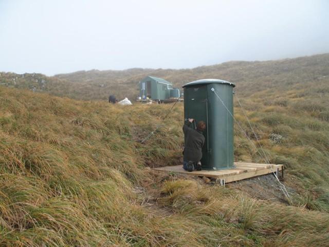 Arete Hut and Norski toilet