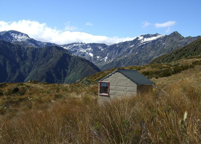 Dickie Spur hut & Tuke River headwaters  Jan 2012