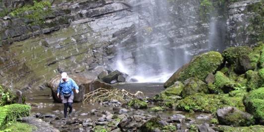 The bottom of Tupapakurua Falls