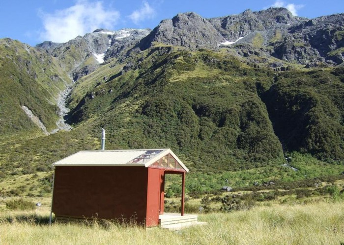 "Rear view of ""New"" Top Crawford hut"