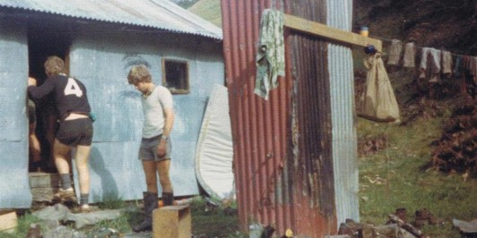 Inches hut Thirteen Mile Bush  1976