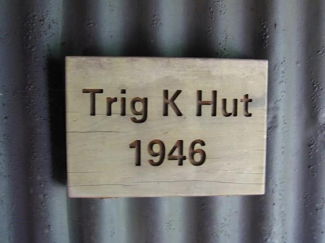 Trig K hut door