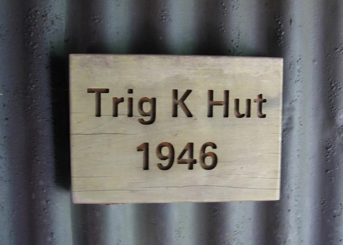 Trig K hut door