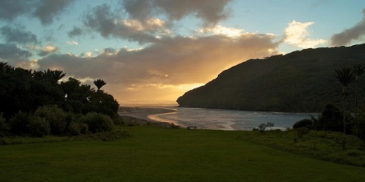 Sunset at Heaphy Hut