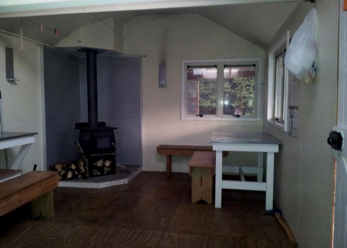 Inside Mackintosh Hut