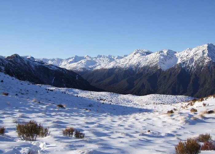 View up Styx valley from Mt Brown hut  June 2012