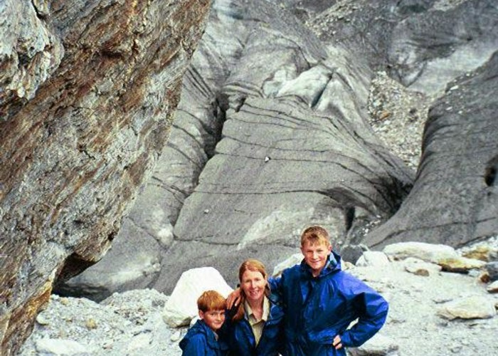 Family on Dart Glacier, 2001