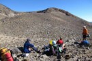 Having lunch at Upper Te Mari Crater May 2012