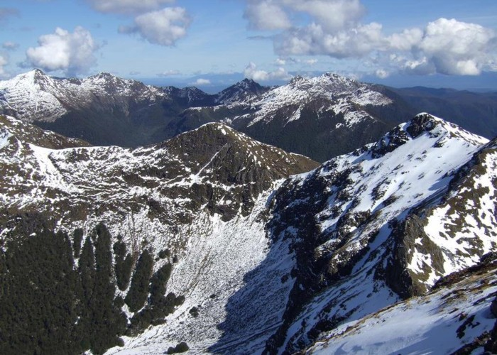 View SW from Mt Haast  Sept 2012