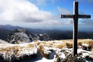 Memorial Cross on Mt Hector September 2012
