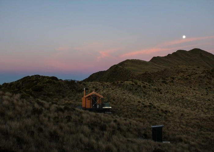 Dusk at Mount Brown Hut