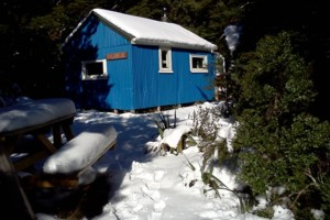Blue Range Hut in snow May 29th 2013