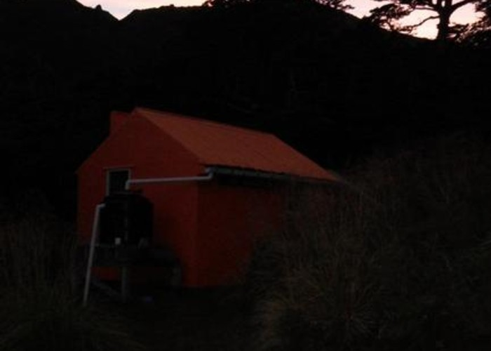 Top Maropea Hut at dawn