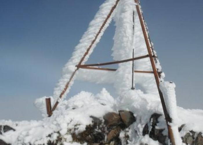 North Kaweka trig, mid Winter