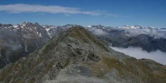 Main Range of the Southern Alps from Mt. Bannatyne