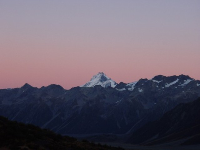 Mt Sefton from Liebig Hut