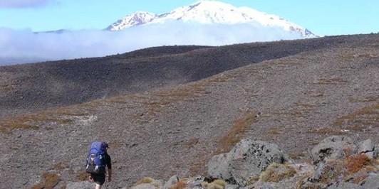Traversing around Mt Tongariro