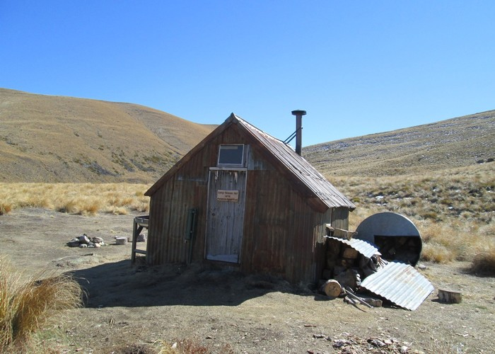 camp stream hut