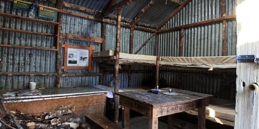 bealey spur hut interior