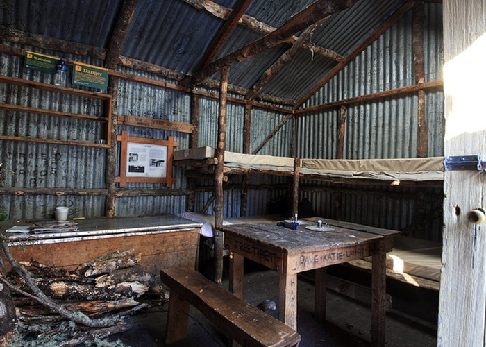 bealey spur hut interior