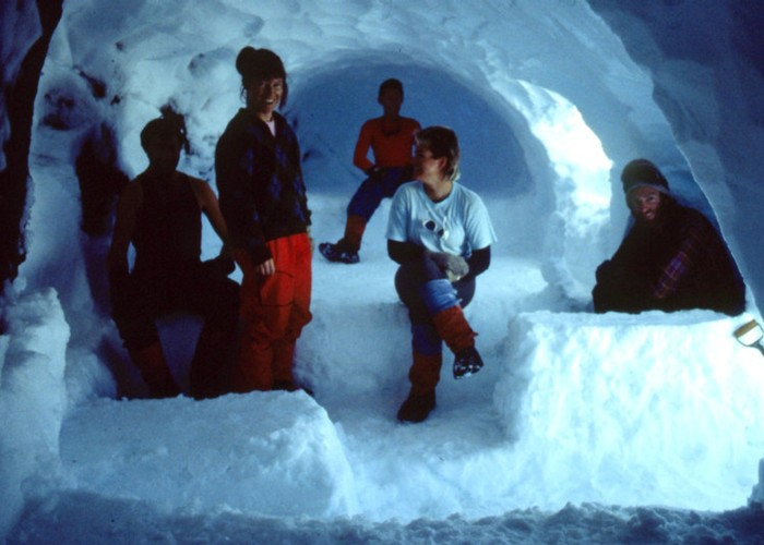 a 'real' snow cave