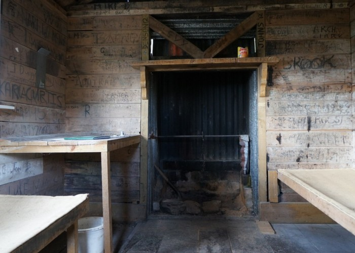 top croesus hut interior
