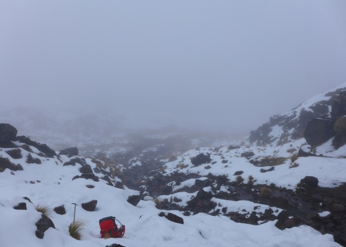 Winter conditions - Tongariro Crossing