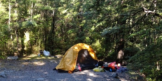 Ryde Falls campsite