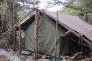 Back  of New Tent Camp Hut