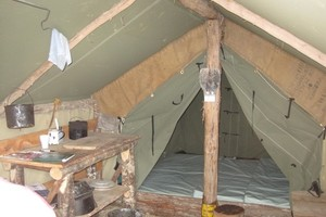 Inside  of New Tent Camp Hut