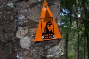 Hillary Trail marker