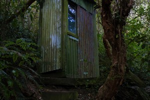 Old toilet, Rod Donald Hut